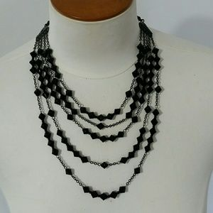 Jewelry - Black jet beaded necklace